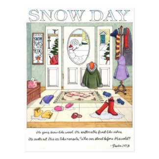 Snow Day Inspirational Postcard