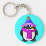 Snow Day Penguin Key Chains