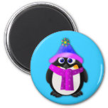 Snow Day Penguin Refrigerator Magnet