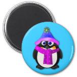 Snow Day Penguin Refrigerator Magnet