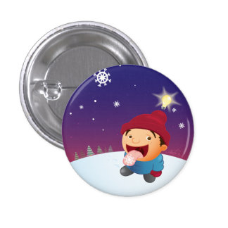 Snow Day Pinback Button