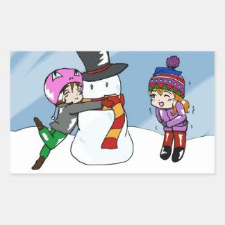 Snow Day! Rectangular Sticker