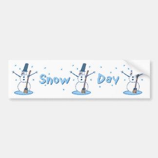 Snow Day Snowmen Bumper Sticker