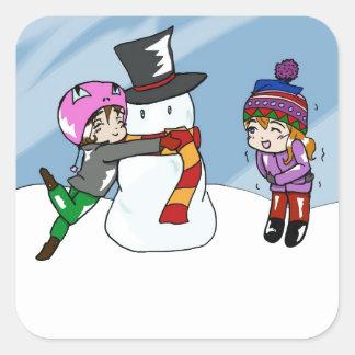 Snow Day! Square Sticker