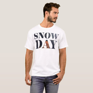 Snow Day Typography T-Shirt