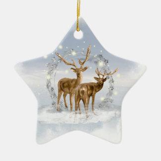 Snow Deer Christmas Ornament