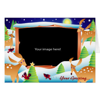 Snow Deer Template Card