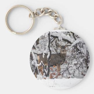 Snow Deer - Wasatch Front - Utah Keychain