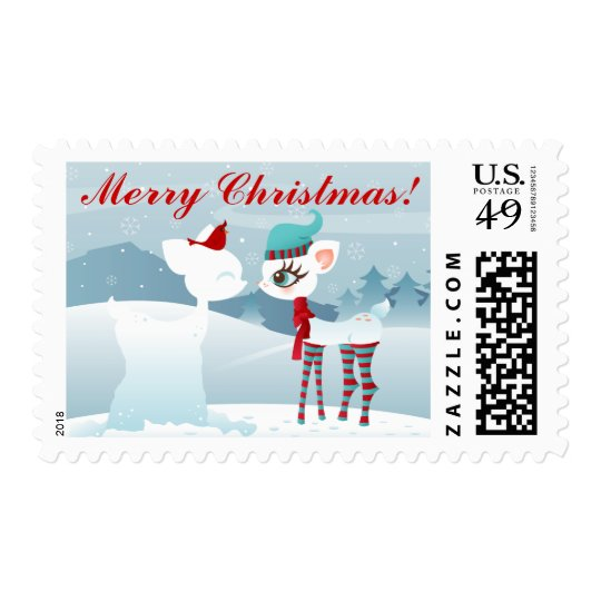 Snow Deerie Christmas & Winter Holiday Postage