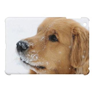 Snow Dog Golden Retriever iPad Mini Cases