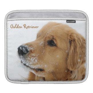 Snow Dog Golden Retriever ipad Sleeve