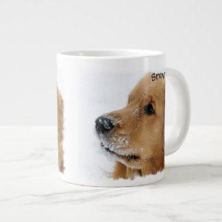 Snow Dog Golden Retriever Large Coffee Mug