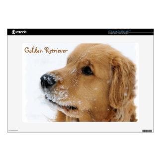 Snow Dog Golden Retriever Skins For Laptops