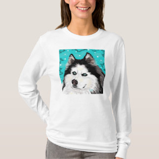Snow Dog womens AA fitted hoodie white