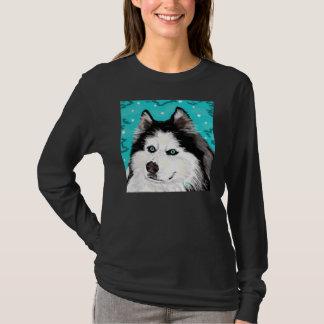 Snow Dog womens long-sleeved tee black