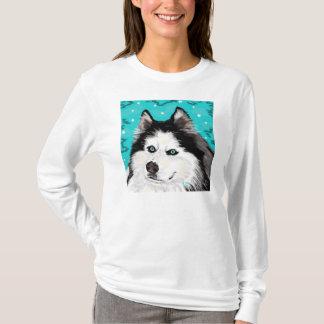 Snow Dog womens long-sleeved tee white