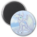 Snow Dragon 2 Inch Round Magnet