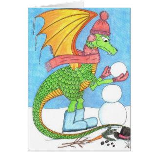Snow Dragon All-Occasion Card