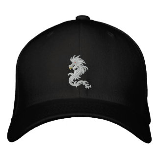 Snow dragon embroidered baseball cap