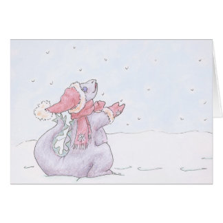 """""""Snow Dragon"""" Greeting and Note Cards"""