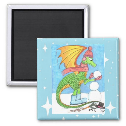 Snow Dragon Magnet