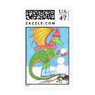 Snow Dragon Postage