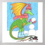 Snow Dragon Posters