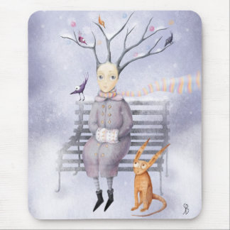 Snow Dreaming Mouse Pad