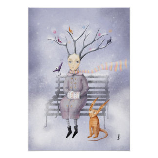 Snow Dreaming Print