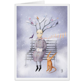 Snow Dreaming Stationery Note Card