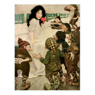 """Snow-Drop and the Seven Little Men"" Postcard"