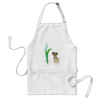 Snow drop flower and Cute Mouse Aprons