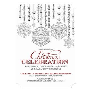 Snow Drops Christmas Celebration Party Invitation