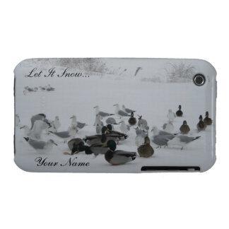 Snow Ducks-Winter Wonderland iPhone 3 case