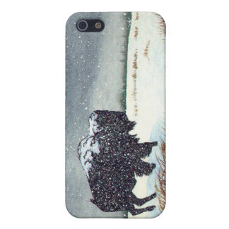 Snow Dusted Bison Painting Case For iPhone SE/5/5s