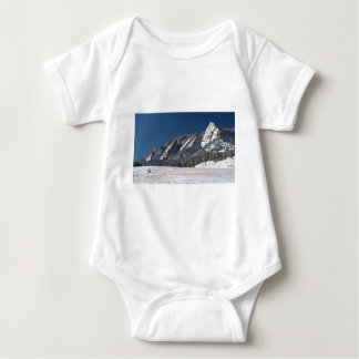 Snow Dusted Flatirons Boulder Colorado Panorama Baby Bodysuit