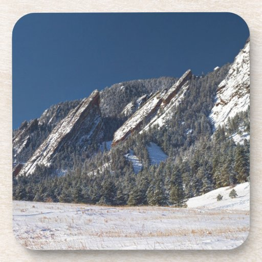 Snow Dusted Flatirons Boulder Colorado Panorama Coasters