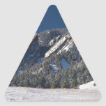 Snow Dusted Flatirons Boulder Colorado Panorama Triangle Sticker