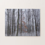 Snow Dusted Forest Winter Landscape Photography Jigsaw Puzzle