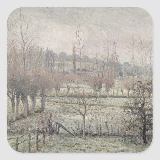 Snow Effect at Eragny, 1894 Square Sticker