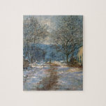 Snow Effect at Limetz by Claude Monet Jigsaw Puzzles