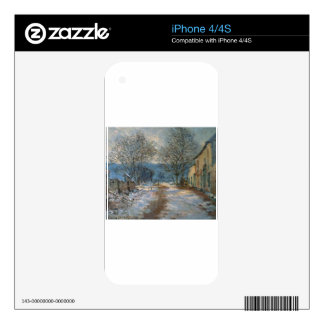 Snow Effect at Limetz by Claude Monet Skin For The iPhone 4