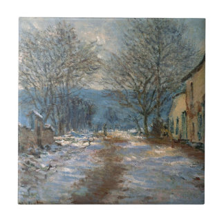 Snow Effect at Limetz by Claude Monet Tile