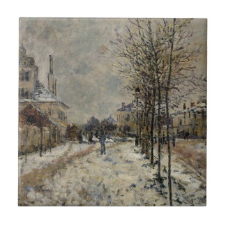 Snow Effect, The Boulevard de Pontoise at Argenteu Ceramic Tile