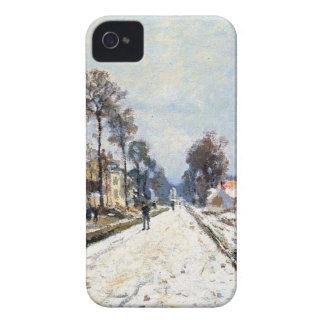 Snow Effect, The Road to Louveciennes by Claude iPhone 4 Case