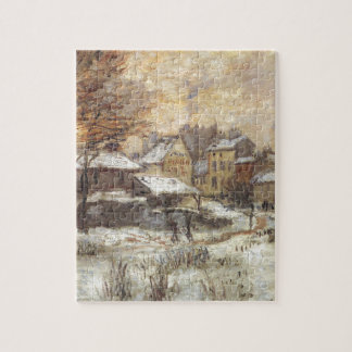 Snow Effect with Setting Sun by Claude Monet Jigsaw Puzzle