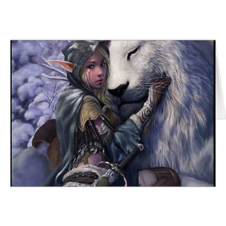 Snow+Elf+Girl+with+Lion Card