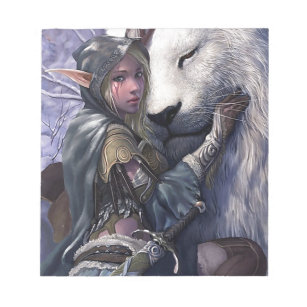 Snow+Elf+Girl+with+Lion Notepad