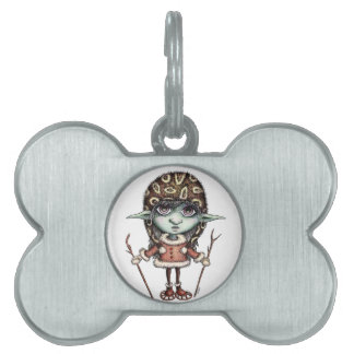 Snow Elf Pet Tag