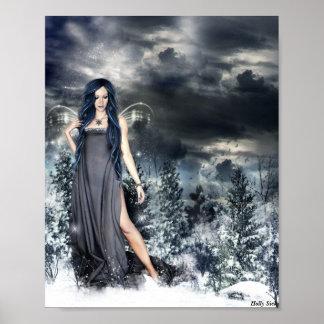 Snow Fairy by  Holly Siek Poster